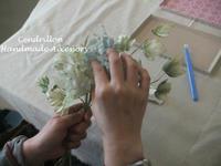 アイビー♪お花と合わせてまとめます。 - 愛知 豊橋 布花アクセサリーCendrillon