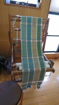 自然のイメージを織で表現 - 大分手織物語り
