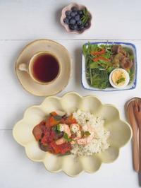ラタトゥイユごはんの朝ごはん - 陶器通販・益子焼 雑貨手作り陶器のサイトショップ 木のねのブログ