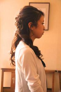結婚式 ロングヘア ハーフアップ ヘアアレンジ アップスタイル 髪型 巻き髪 編み込み ブライダルヘア お呼ばれスタイル さくら市 美容室エスポワール - 美容室エスポワール
