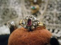 ヴィクトリアンルビー&ダイヤモンドリング - AntiqueJewellery GoodWill