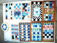 7月小学生クラス「タイルを使ってコースター」 - 絵画教室アトリえをかく