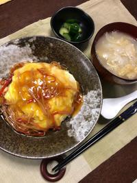 天津飯 - 庶民のショボい食卓