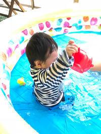 孫っち、初めてのプール♪ひよこクラブ8月号掲載♪ - Let's Enjoy Everyday!