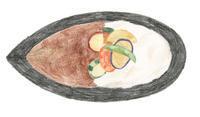 今日の絵「野菜のせカレー」 - vogelhaus note