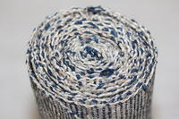 古布 木綿 紙縒り織 巻物 Japanese Antique Textile Koyori-paper Scroll - 京都から古布のご紹介