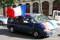 サッカーワールドカップ決勝直前のパリ - パリときどきバブー  from Paris France