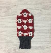 ティータイムのミトン 赤×白 - ミトン☆愛犬 編みぐるみ Maronyのアトリエ