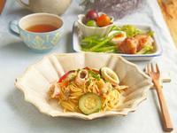 シーフードパスタの朝ごはん - 陶器通販・益子焼 雑貨手作り陶器のサイトショップ 木のねのブログ