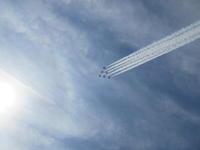 ブルーインパルスが新潟市上空にやって来た!! - 連続スリーパット 2