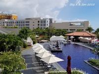 ◆ 恒例の沖縄 2018、その5 「ヒルトン沖縄北谷リゾート」へ プール編 (2018年6月) - 空と 8 と温泉と