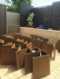 庭のウッドタイル大掃除!~今年もお庭プールはじめました~ - イロトリドリノ暮らし~シンプル×北欧モダン~