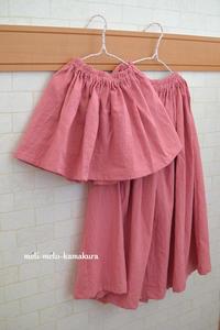 ◆娘とお揃い♡スカート作りにハマりそう - フランス雑貨とデコパージュ&ギフトラッピング教室 『meli-melo鎌倉』