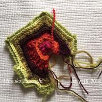 破れたモチーフ   a ripped motif... - 糸始末な日々         Thread&Yarn Handing Days