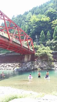 上北山村で川遊び→まほろばの里卑弥呼のだんご - おでかけごはん