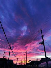 凄い夕焼け - デジタルで見ていた風景