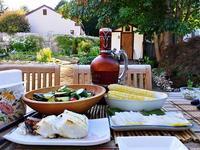 ポタジェの初収穫と夫の料理 - コテージ便り