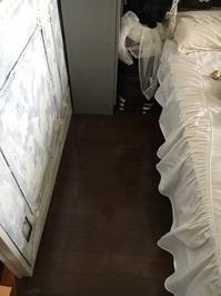 寝室の床貼り換え完了 - フレンチシックな家作り。Le petit chateau