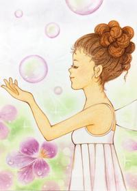 妖精とスミレ - アトリエ絵くぼのパステルアート教室
