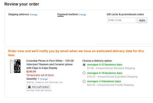 米アマゾン Essential Phoneをプライム会員以外にも249.99ドルで販売 - 白ロム転売法