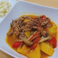 牛肉のフレッシュトマト煮 - 楽飯  ~ラクチンご飯~