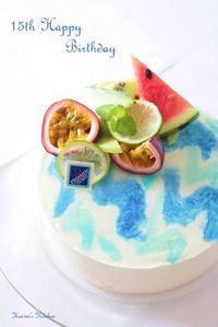青い海のバースデーケーキ。 - Heaven's Kitchen