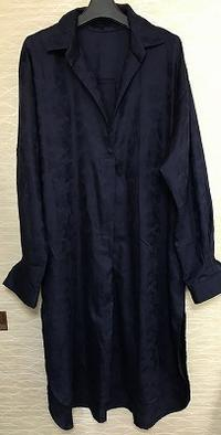 ワイシャツカラーのロングワンピース生徒の作品 - アトリエ A.Y. 洋裁教室