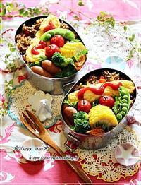 焼きカレーオムレツ弁当と今夜のおうちごはん♪ - ☆Happy time☆