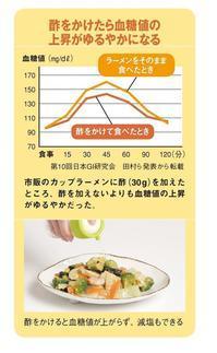 酢をかけると血糖値の上昇が緩やかに:GI - mourokuKoala