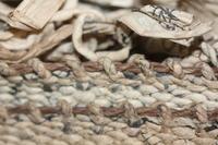 古布 木綿 紙縒り 敷物 Japanese Antique Textile Koyori-paper Rug - 京都から古布のご紹介