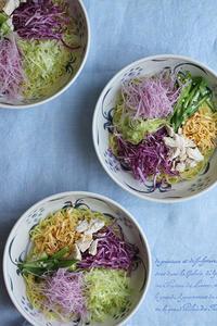 サラダ冷やし中華 - Nasukon Pantry