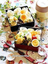 トウモロコシと枝豆の天ぷら素麺弁当と今夜は鰻丼♪ - ☆Happy time☆
