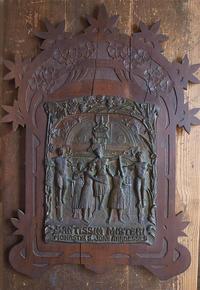 宗教レリーフ「最も神聖な神秘」 / F383 - Glicinia 古道具店