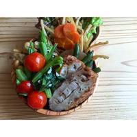 アスパラ菜とプチトマトのにんにく煮BENTO - Feeling Cuisine.com