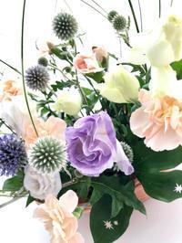 涼やかなバスケットアレンジメント♪ - **おやつのお花*   きれい 可愛い いとおしいをデザインしましょう♪