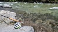 2018.7.20 2匹の岩魚 - river side