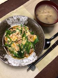 ニラ玉あんかけ丼 - 庶民のショボい食卓
