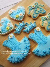 バレエのアイシングクッキー * ブルーのトウシューズ - nanako*sweets-cafe♪