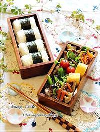 豚肉ピーマン椎茸の照焼き弁当と今夜は♪ - ☆Happy time☆