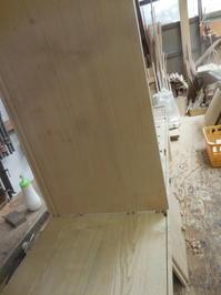 食器棚(カップボード)の仮組 - 手作り家具工房の記録