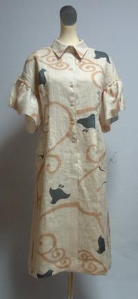 麻千鳥のワンピース - 私のドレスメイキング