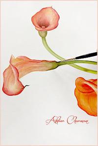 生徒さん作品① - Atelier Charmant のボタニカル・水彩画ライフ