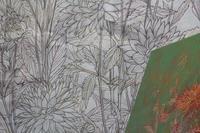 下絵をパネルに写す - 絵と庭