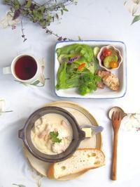 サーモンのクリーム煮朝ごはん - 陶器通販・益子焼 雑貨手作り陶器のサイトショップ 木のねのブログ