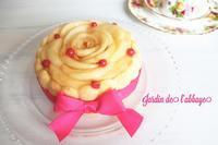 桃のシャルロット - 「jardin de l'abbaye 」お菓子ブログ