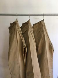 50's French Army Chino Trousers Dead Stock!! - DIGUPPER BLOG