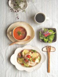 えびアボカドトーストの朝ごはん - 陶器通販・益子焼 雑貨手作り陶器のサイトショップ 木のねのブログ