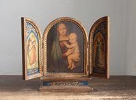 三連祭壇画24.5cm 聖母子像  / F473 - Glicinia 古道具店