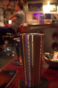 Anniversary  with typhoon  栄町の夜へ懐かしさ感じる nostalgic bar coco - 京都ときどき沖縄ところにより気まぐれ
