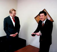 津和野町長、津和野町議会表敬訪問 - べルリンでさーて何を食おうかな?